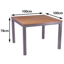 Sol Bistro Syn teak square bistro table teak asian 100cm