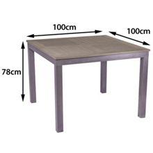 Sol Bistro Syn teak square bistro table dark walnut 100cm