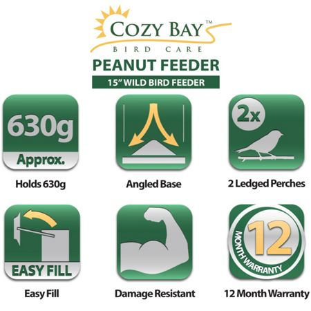 Cozy Bay 15 peanut bird feeder