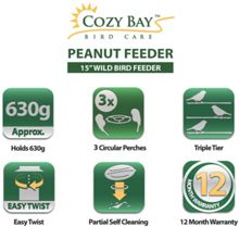Cozy Bay 15 deluxe peanut bird feeder