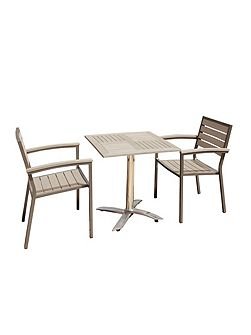 Syn-teak 2 seater dark walnut restaurant bistro s