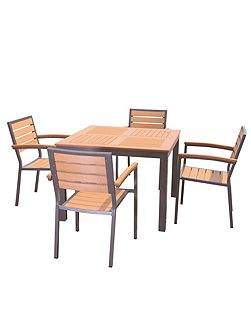 Syn-teak 4 seater teak asian restaurant bistro st