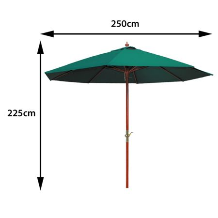 Cozy Bay 2.5m parasol green crank