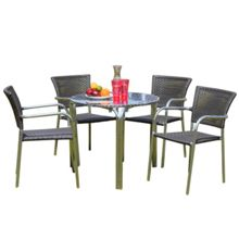 Cozy Bay Filtro 4 seater rattan furniture grey restaurant