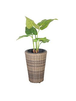 Round rattan planter 40cm with plastic inlay
