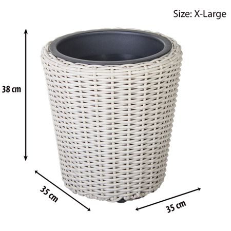 Cozy Bay Round plant pot with iron frame x-large