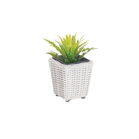 Cozy Bay Square plant pot with iron frame small