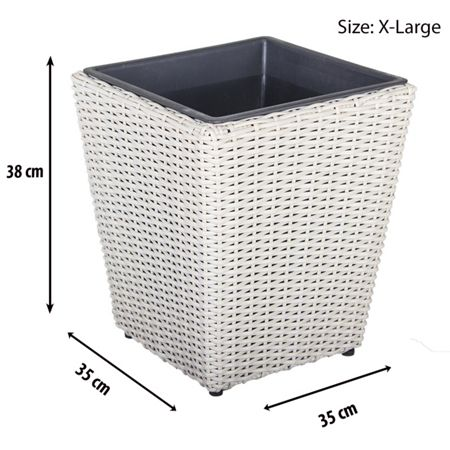 Cozy Bay Square plant pot with iron frame x-large