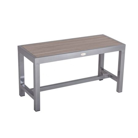 Sol Bistro Syn-teak one/two seater bench dark walnut