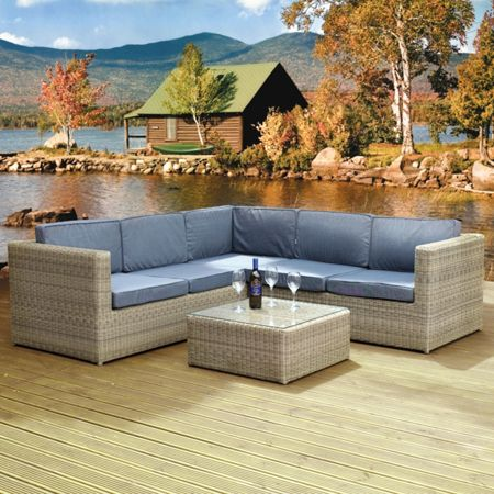 Oseasons Hampton 5 seater lounge lounge sofa set