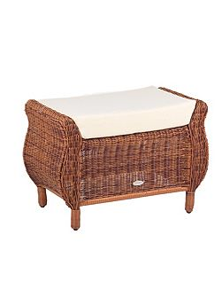 Jamaica rattan footstool java honey