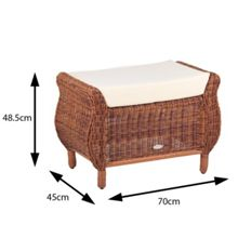 Cozy Bay Jamaica rattan footstool java honey