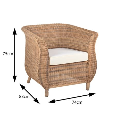Cozy Bay Jamaica 4 seater deluxe rattan furniture java hon