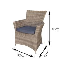 Oseasons Eden rattan arm chair