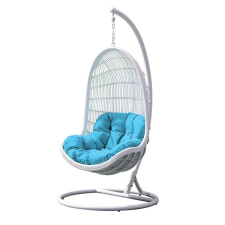 Cozy Bay Pebble white hanging chair
