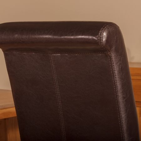 Oseasons Brown faux leather dining chair
