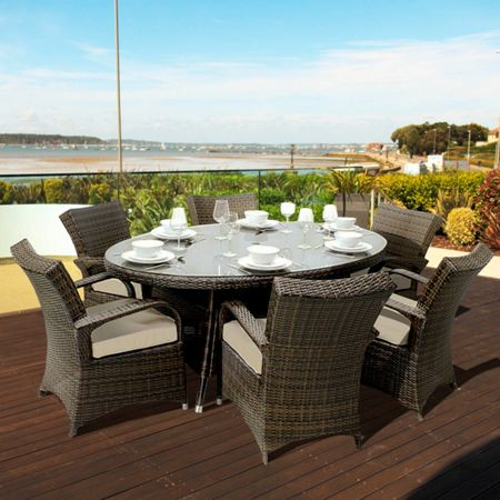 Oseasons Windsor 6 seater dining furniture set