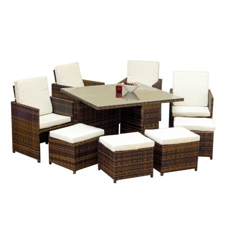 Oseasons Cube 8 seater garden patio furniture set