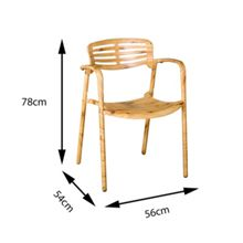 Sol Bistro Toledo stackable bistro chair natural wood effect