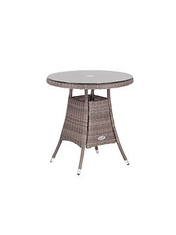 Hawaii rattan 2 seater dining table in onyx
