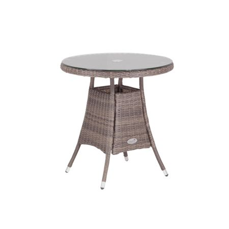 Cozy Bay Hawaii rattan 2 seater dining table in onyx cocoa