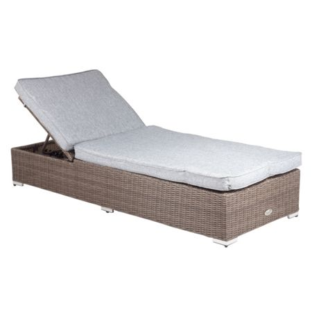 Cozy Bay Hawaii rattan 2 seater sun lounger set in onyx co