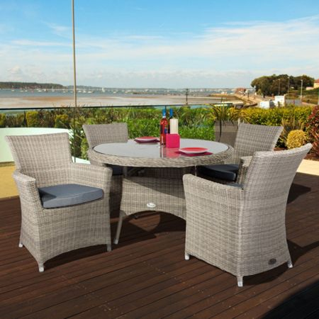 Oseasons Eden 4 seater dining furniture set with 110cm tab