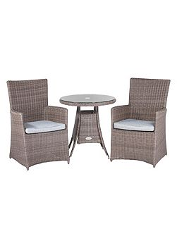 Hawaii rattan 2 seater tea for two set