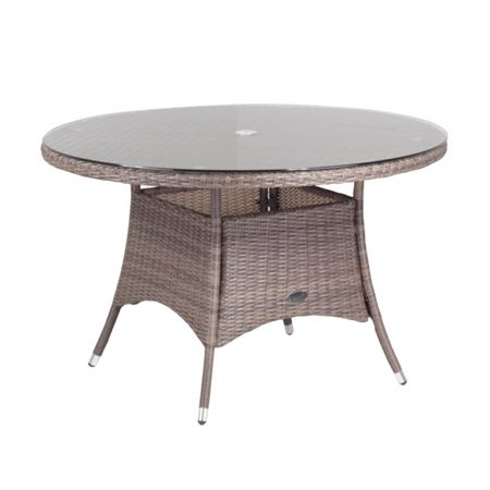 Cozy Bay Hawaii rattan 4 seater dining table in onyx cocoa