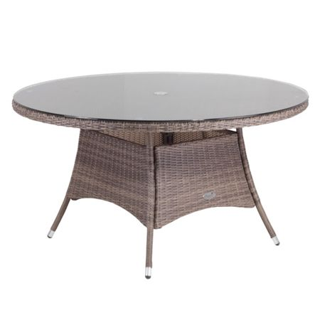 Cozy Bay Hawaii rattan 6 seater dining table in onyx cocoa