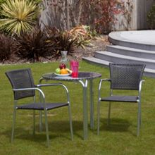 Cozy Bay Filtro 2 seater rattan furniture grey restaurant