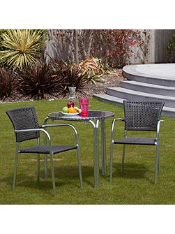 Filtro 2 seater rattan furniture grey restaurant