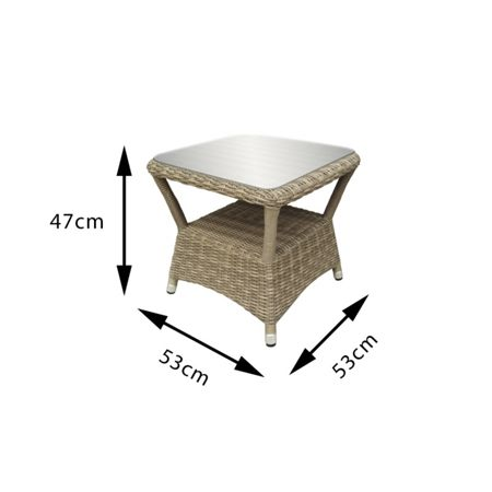 Oseasons Hampton tea for two set with round top chairs