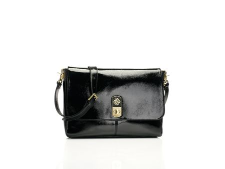 Marshall Bergman Phoenix 11 patent black cross body bag
