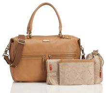 Storksak Caroline Leather Changing Bag - Tan
