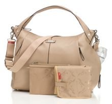Storksak Catherine Leather Almond Changing Bag