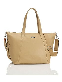 Noa Leather Changing Bag - Light Tan