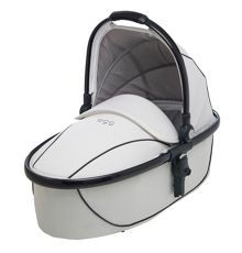 Egg Carrycot arctic white and gunmetal frame