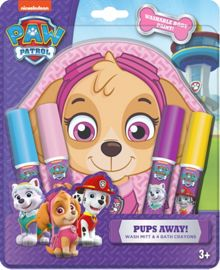 PAW PATROL Pups Away Bath Crayons and Washmitt