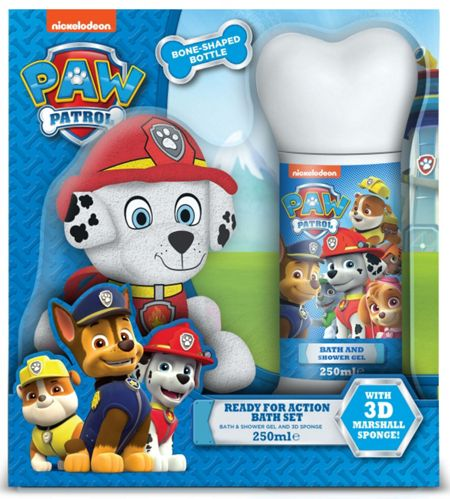 PAW PATROL Ready for Action Shower Gel and Sponge
