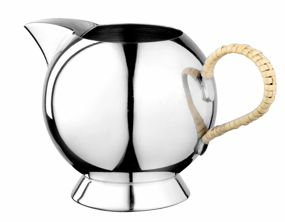 Spheres cream jug wicker handle