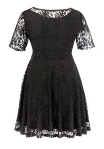 Empire line lace tunic dress