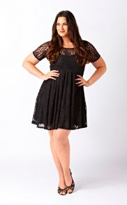 Empire line lace tunic