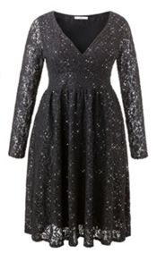Sequin lace dress