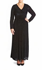 Animal burn out maxi dress