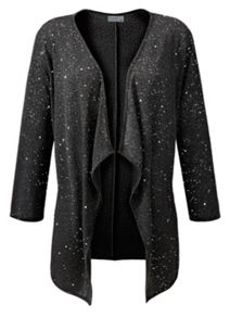 Grace Glitter waterfall cardigan