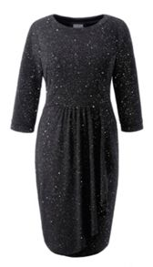 Grace Plus Size Glitter waterfall dress
