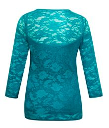 Stretch lace top with cami