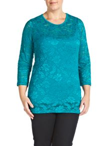 Plus Size Stretch lace top with cami