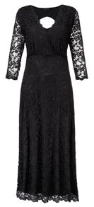 Made in Britain scalloped lace dress
